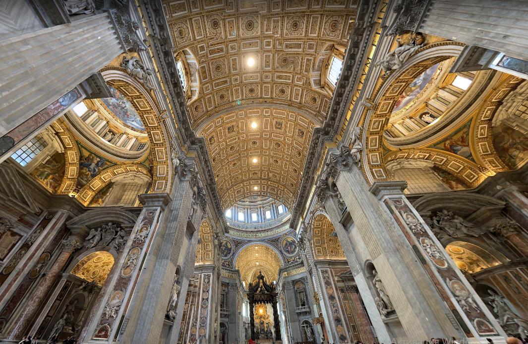 Базилика Святого Петра в Риме внутри