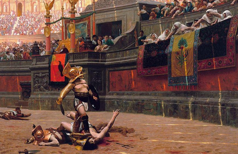 Гладиатор в Колизее - интересные факты про Рим