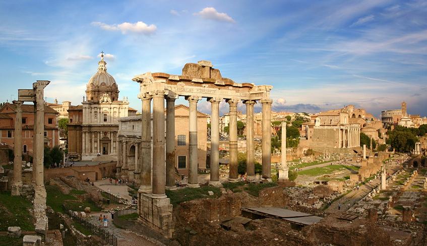 Панорама с Капитолийского холма на Пантеон