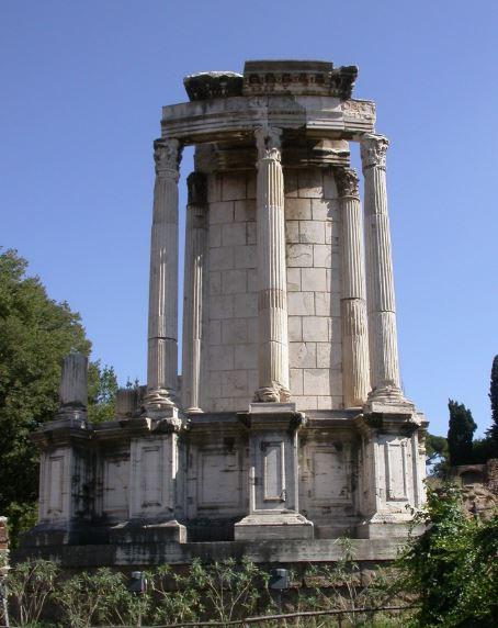 Руины храма Весты в Риммком Форуме