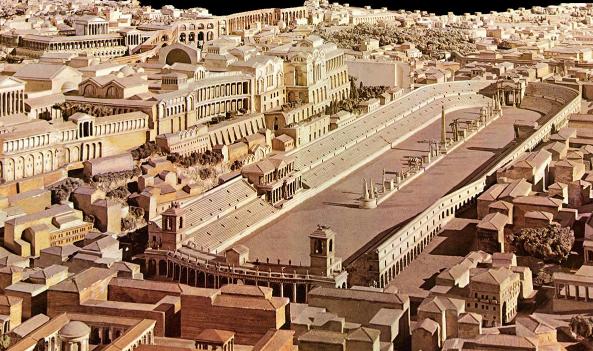 Схема античного Большого цирка