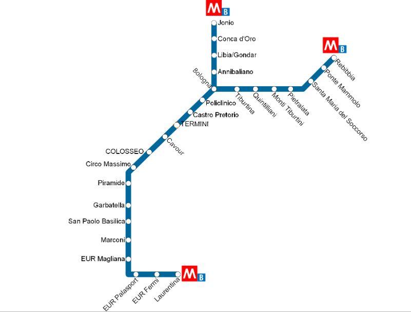 Синяя ветка метро в Риме