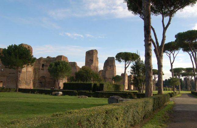 Термы Каракаллы в Риме декабрь