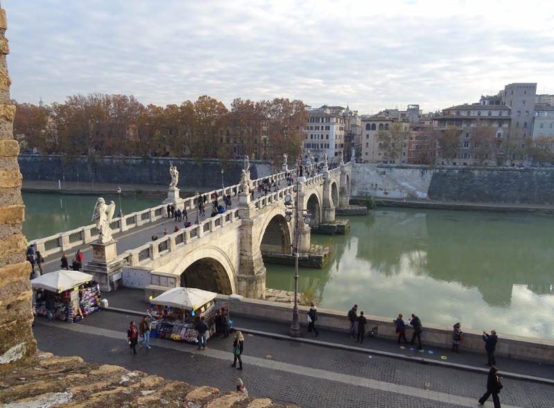 Вид с замка Св Ангела на Рим в декабре