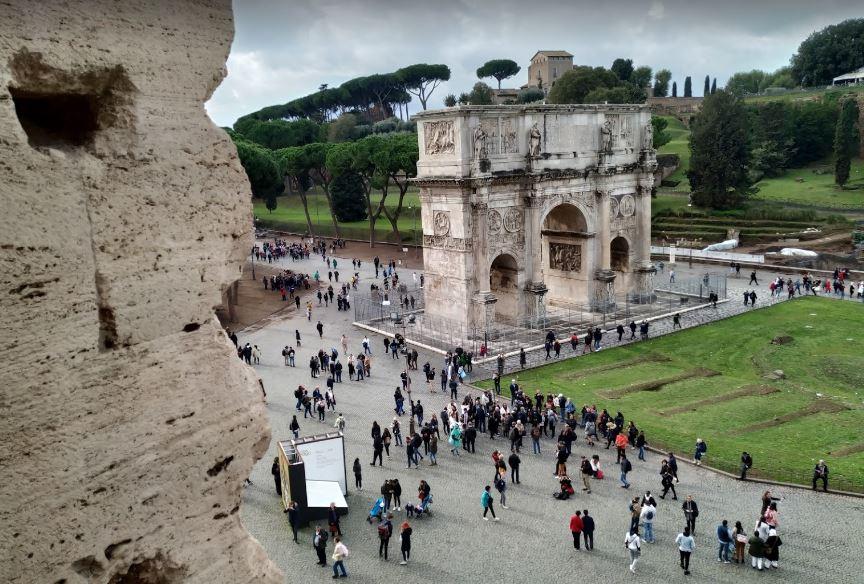 Фото, сделанные с Колизея