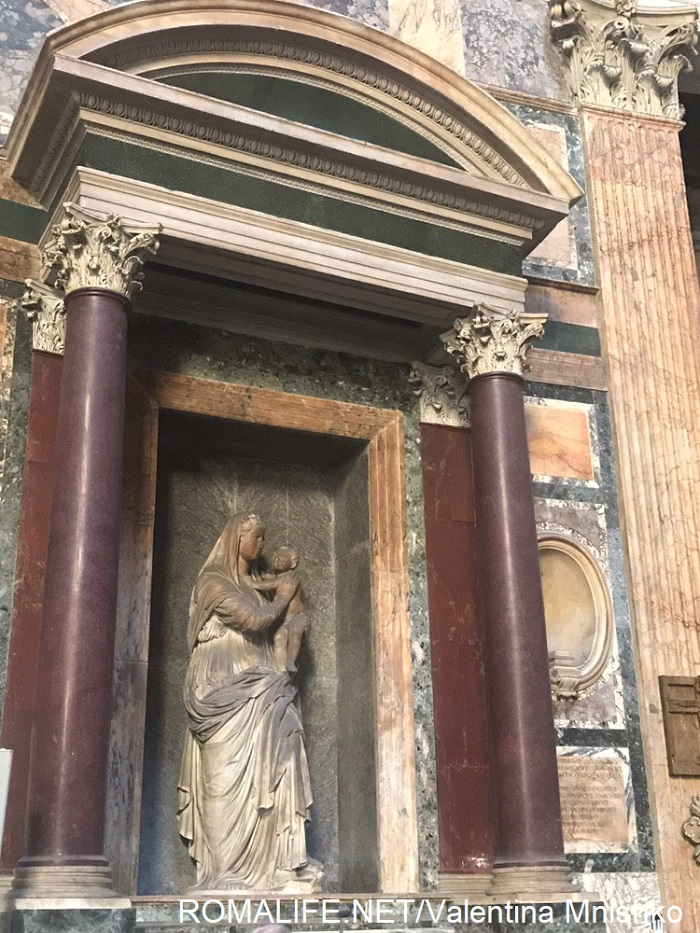 Фигуры святых в Пантеоне Богородица