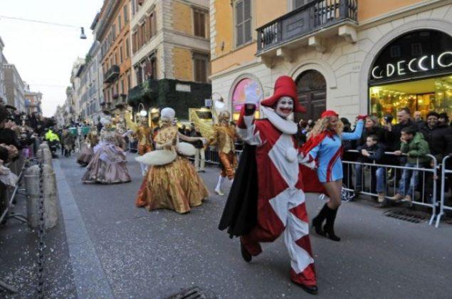 Карнавал в Риме в феврале