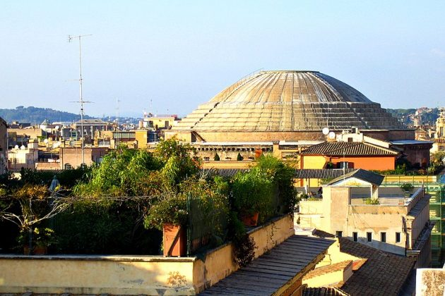 Купол Пантеона 21 апреля