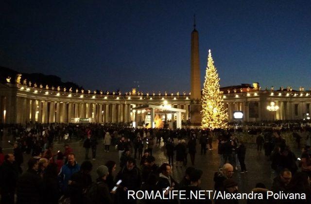 Площадь Святого Петра в Ватикане в январе
