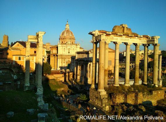 Римский форум в январе