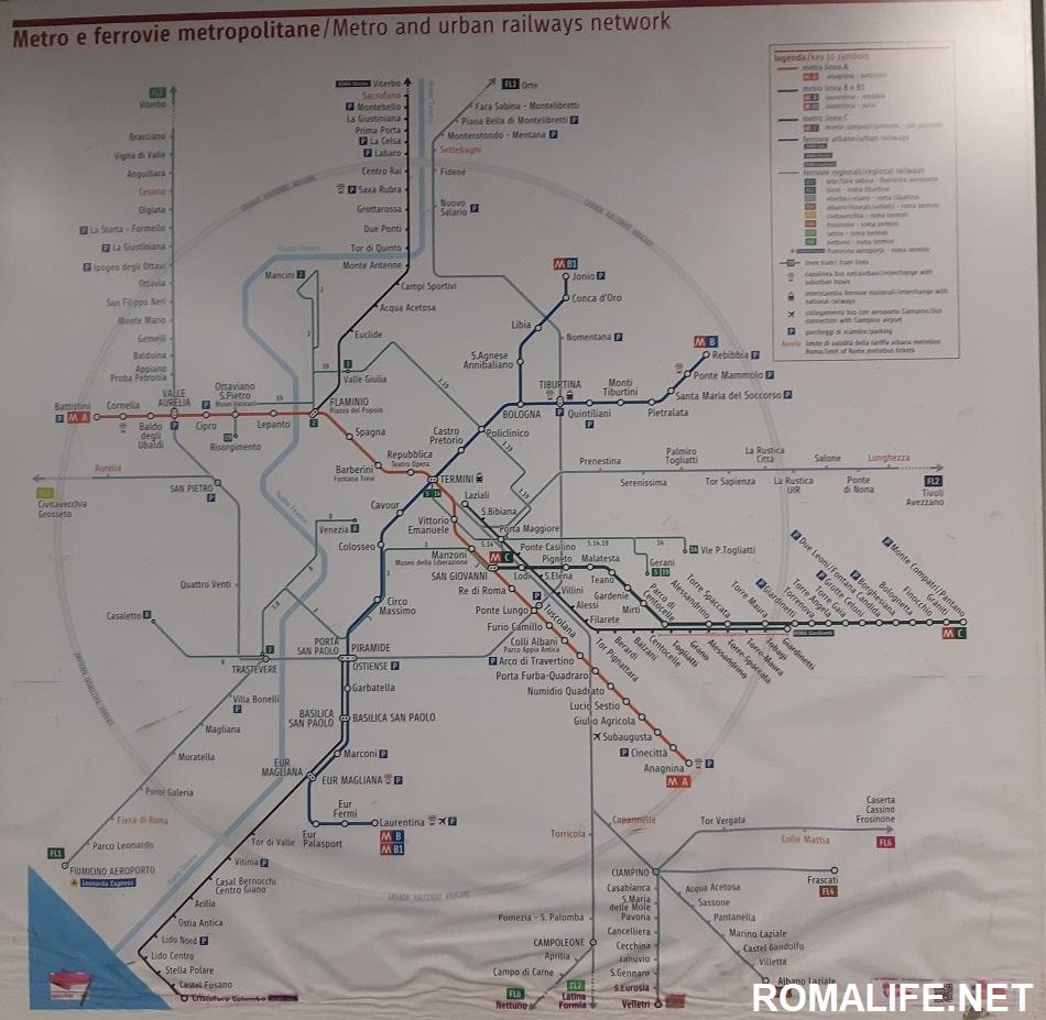 Карта метро Рима