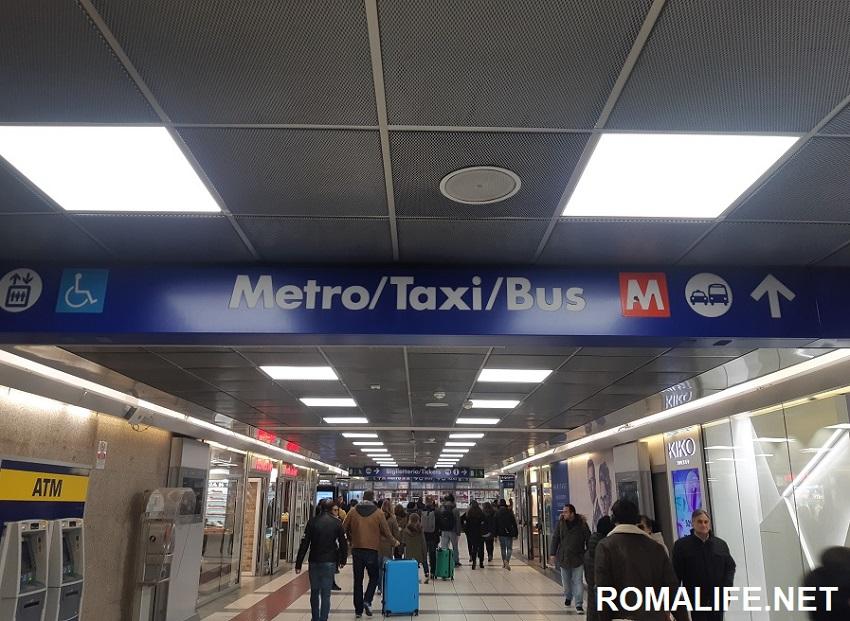 Метро на вокзале Термини