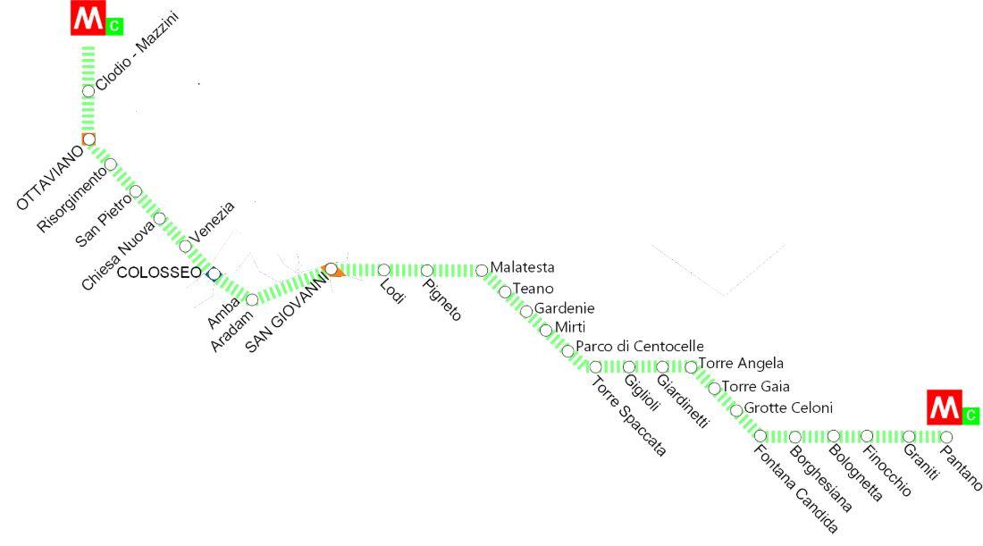 Метро в Риме схема линий