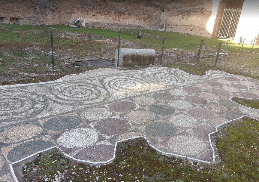 Мозаика в термах Каракаллы