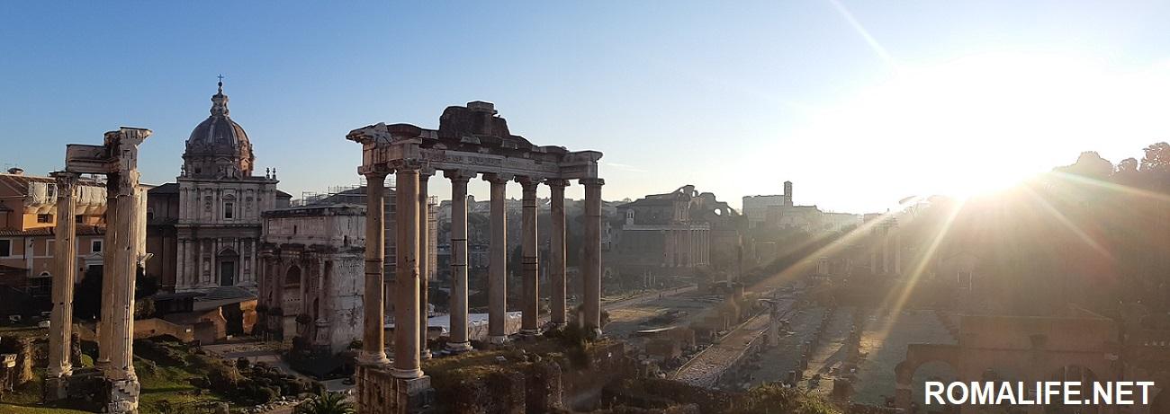 Панорама Римского форума