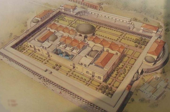 План Римских терм