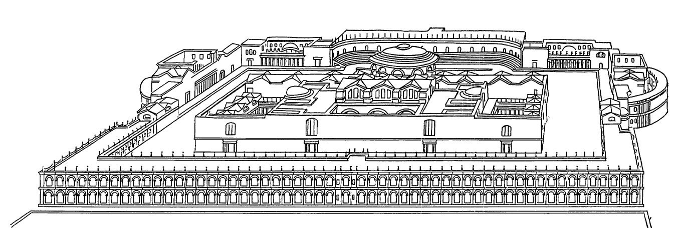 План Римских терм Каракаллы