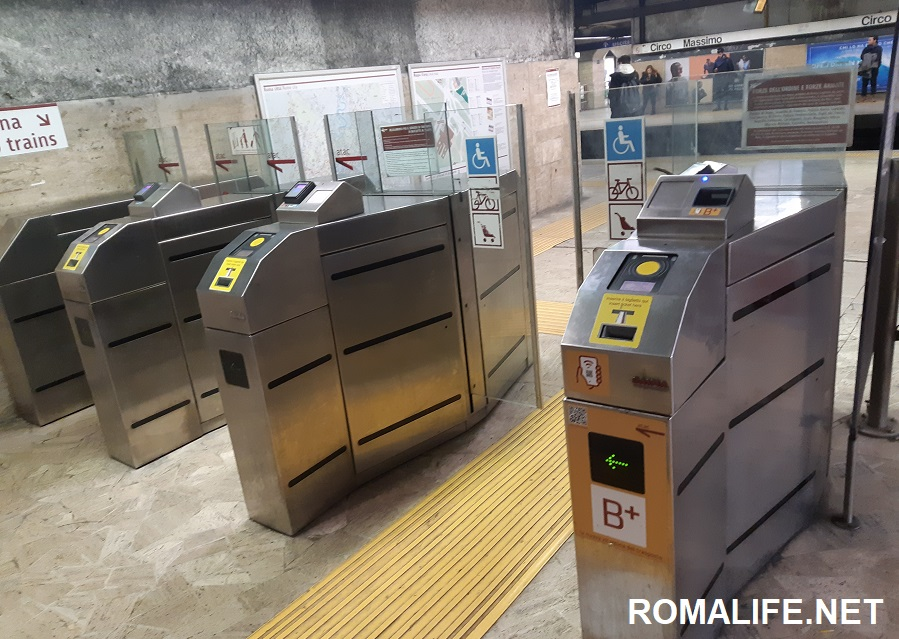 Проезд на метро в Риме