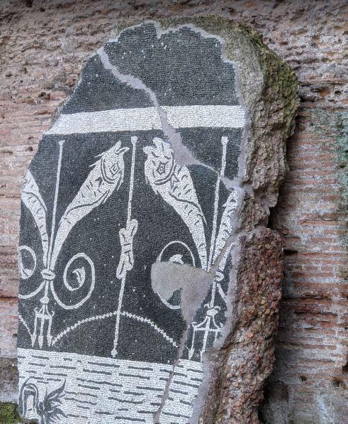 Сохранившиеся мозаики терм