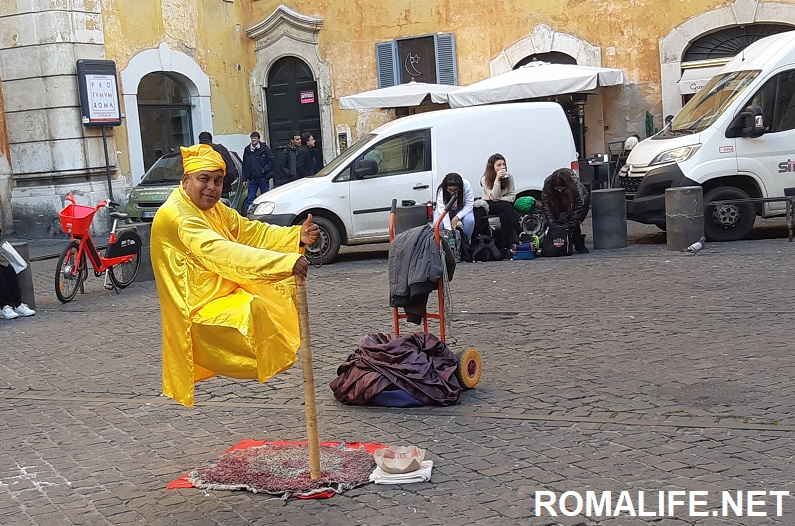 Улицы Рима в марте