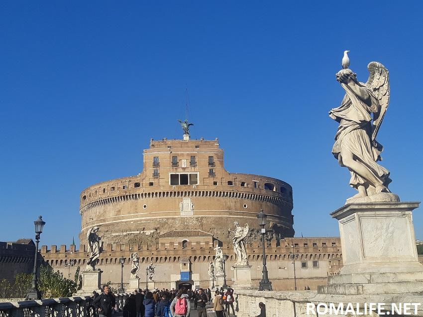 Замок Ангела - Рим в марте