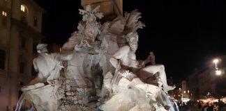 Площадь Навона Рим - фонтан Бернини