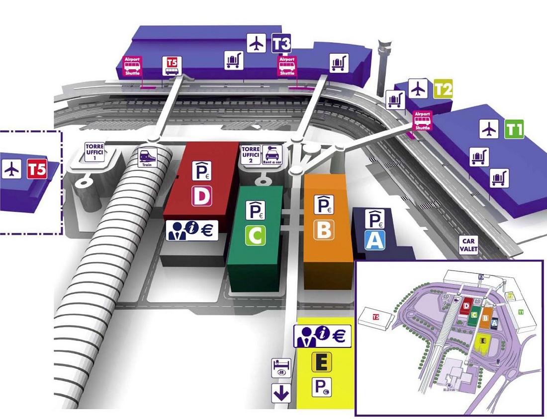 Схема аэропорт Фьюмичино