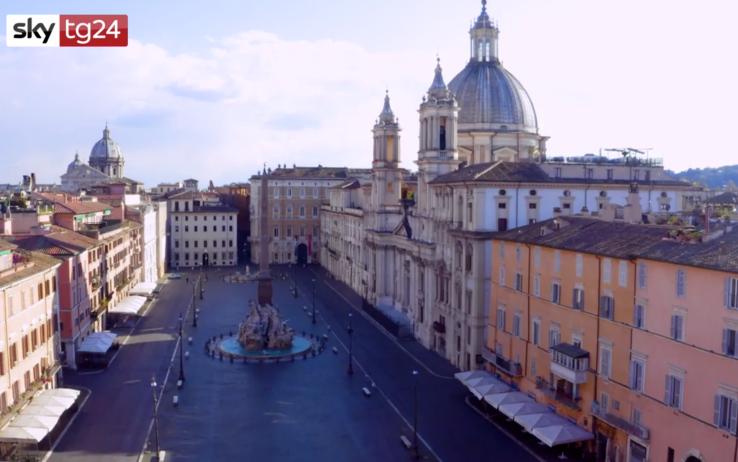 Коронавирус в Риме - площадь Навона