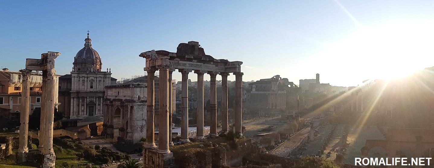 Вид с Капитолийского холма на Рим
