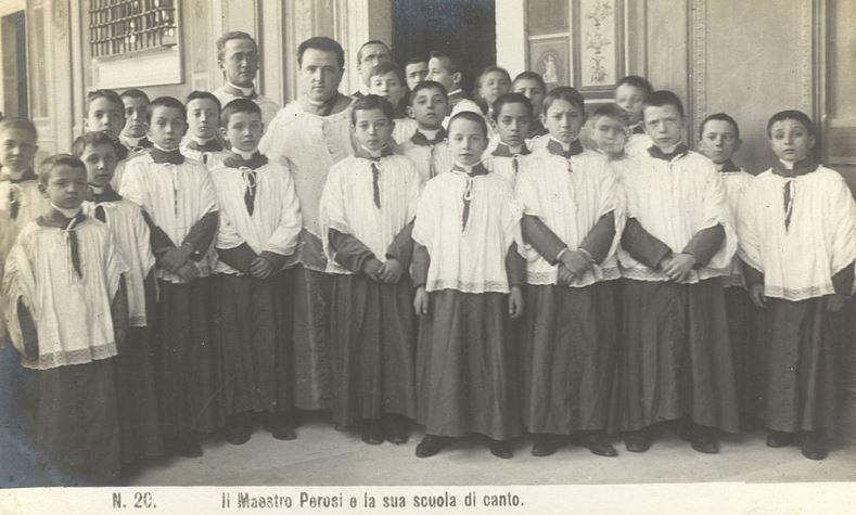 Хор Сикстинской капеллы в 1905