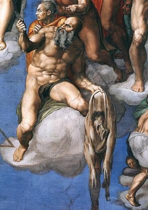 Св.Варфоломей как автопортрет Микеланджело