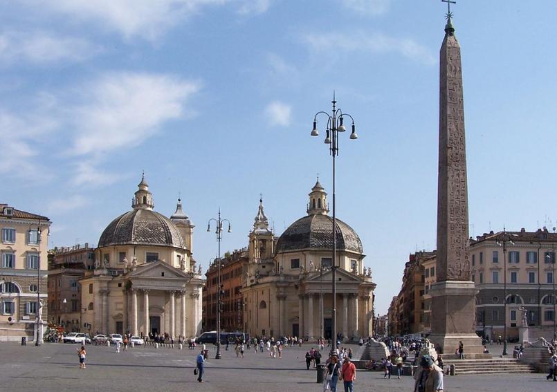 Церкви-близнецы - Народная площадь в Риме