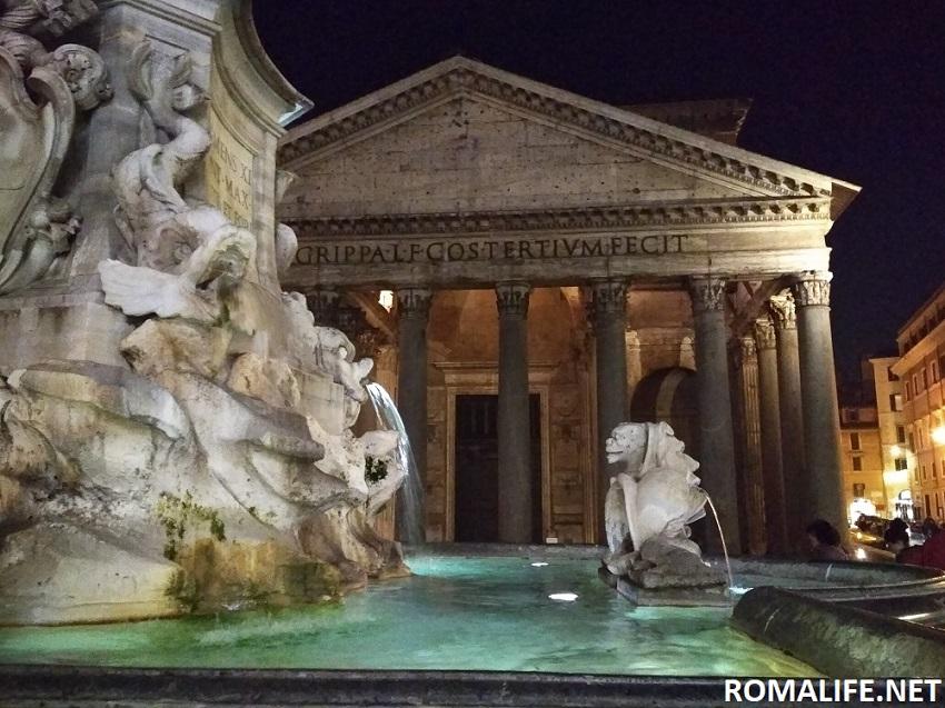 Фонтан и Римский Пантеон
