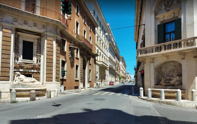 Площадь четырех фонтанов в Риме