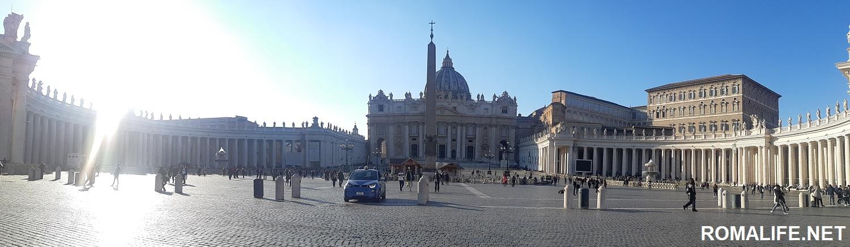 Красивые площади в Риме - площадь Св Петра