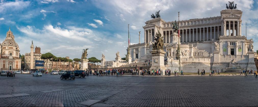 Площадь Венеции с Витториано