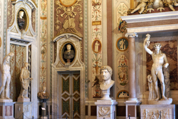 Зал императоров - галерея Боргезе